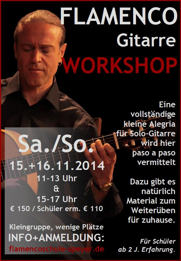 FLAMENCO-GITARREN WORKSHOP - Alegrias